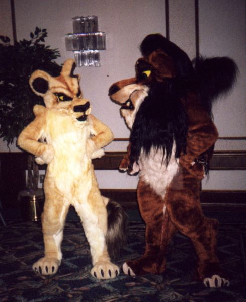Scar and Zira fursuits